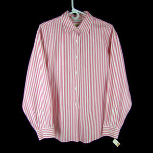 New - Talbots Wrinkle Resistant Cotton Blouse - 16